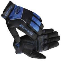 X-Large Rhino-Tex Synthetic Leather Gloves Black/Blue