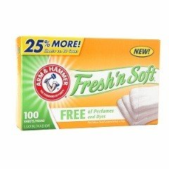 Arm & Hammer Free & Clear Fabric Softener Dryer Sheets