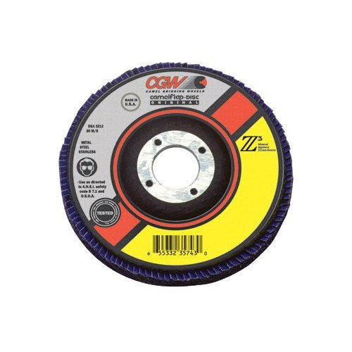 4 1 2 Quot Z3 100 Zirconia Abrasive Flap Disc W 60 Grit