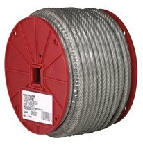 "1/8"" Solid Braided Steel Rope Cables"