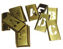 33 Pieces Brass Stencil Single Letter Marking Set