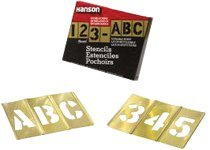 45 Piece Gothic Style Letter Brass Stencil Letter And Number Sets