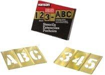 77 Piece Brass Stencil Letter & Number Sets