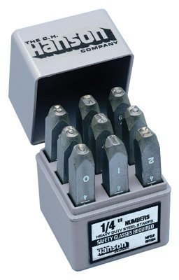 1/4 Heavy Duty Steel Hand Numeral Stamp Sets