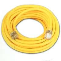 25 foot Yellow Extension Cord with Lighted End