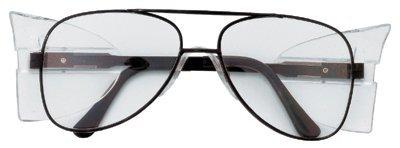 Engineer Aviator Shape Protective Eyewear Black Clear
