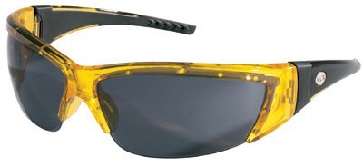 Translucent Yellow Frame Grey Lens ForceFlex Protective Eyewear