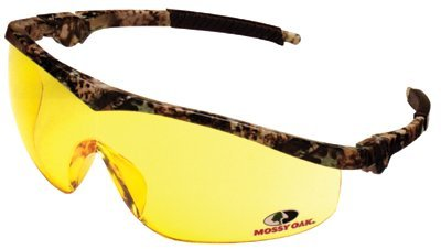 Mossy Oak Safety Glasses Camo / Amber Lens