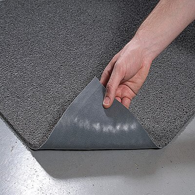 Vinyl Floor Mats >> Crown Mats 36 X 60 Gray Spaghetti Loop Vinyl Floor Mat