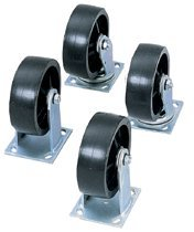 4 Piece Set 2 Fixed and 2 Swivel Heavy-Duty Casters