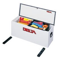 White Steel Lock-Down Portable Chests