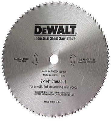 """7-1/4"""" 68 Teeth Heavy Duty Metal Cut Saw Blade"""