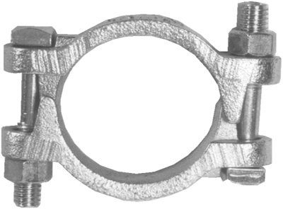 6 1/2 inch Double Bolt Hose Clamp