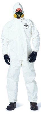 Large White DuPont Tychem SL Coveralls