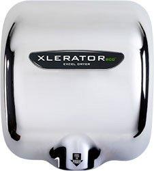 Automatic Xlerator Eco Hand Dryer, Chrome Cover, 120 V
