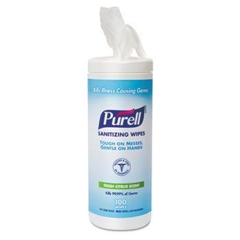 "Purell Sanitizing 5.78"" X 7"" Wipes"