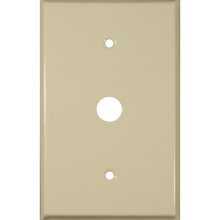 1 Gang Cable Wall Plate-Ivory