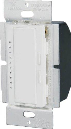 600W White 3-Way Intelligent Dimmer W/ LED Locator
