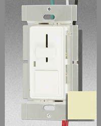 600W Ivory Single Pole Slide Dimmer W/ Push Switch/LED