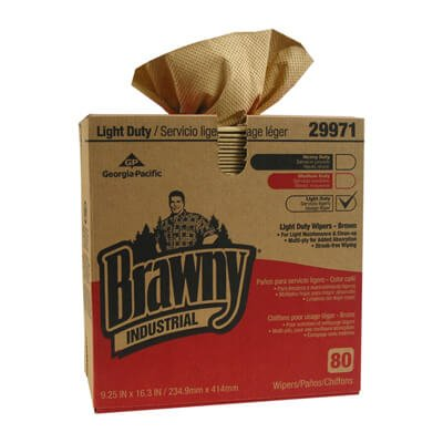 Brown, 80 Count 3-Ply Light-Duty Paper Wipers-9.25 x 16.75
