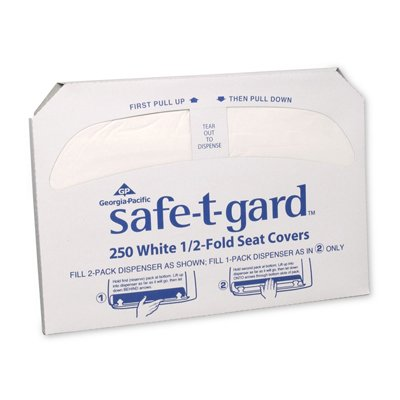 Georgia Pacific White Half Fold Toilet Seat Covers 47046