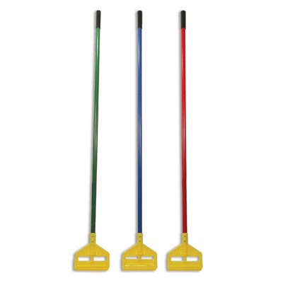Red and Yellow, Invader Fiberglass Side-Gate Wet-Mop Handle-60-in