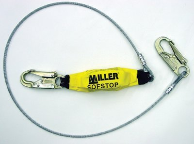 Honeywell Miller 907LS/6FTYL 6\' Wire Rope Lanyards w/SofStop Shock ...