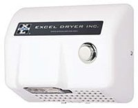 Lexan Serie Push Button Hand Dryer, White