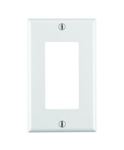 1-Gang Rocker Switch Mid Sized Wall Plate, White
