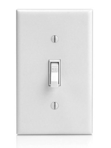15 amp single pole toggle switch white