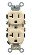 20 Amp Duplex Receptacle Outlet, Ivory