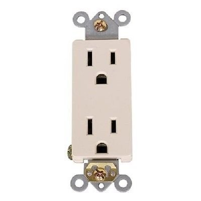 20 Amp Decora Duplex Receptacle Outlet, Almond