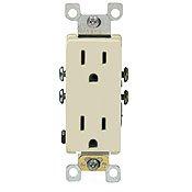 20 Amp Tamper Resistant Decora Duplex Receptacle Outlet, Ivory
