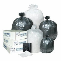 Clear 6 Micr High-Density Commercial 4 Gal Can Liners