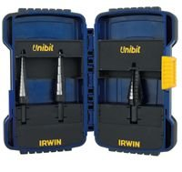 Three Piece Unibit High Speed Steel Step Drill Set