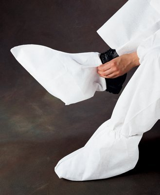 White A20 Breathable Particle Protection Foot Covers