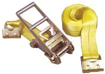 Ratchet Tie-Down Straps with Flat Hook Ends