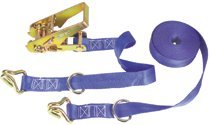 Ratchet Tie-Down Straps with Double J Hooks
