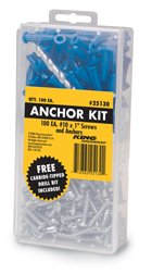Drywall Anchor Kit, Pack of 50