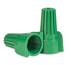 Green Ground Wing Wire Connector, Pack of 25,000