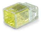 Contractor Choice 2-Port Push-In Wire Connector, Yellow