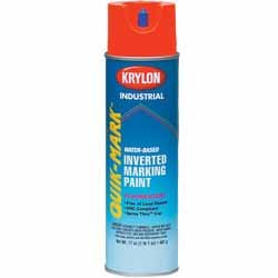 16 oz Orange Water Based Fluorescent Inverted Marking Paint