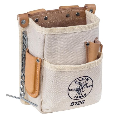 klein 5-pocket tool pouch - canvas (klein 5125) | homelectrical.com
