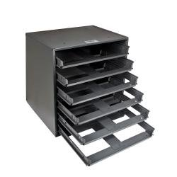 6-Box Slide Rack Storage