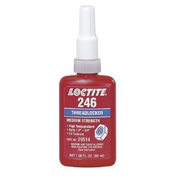 246 Medium Strength, High Temp. Threadlocker, 50 mL