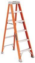 Flat Run Shape Fiberglass Advent Step Ladder