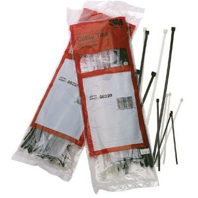 Various Colors Assorted Calterm 100 Pack 73242 7 in Nylon Cable Tie
