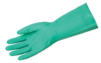 Size 10 Flocked Lining Unsupported Nitrile Gloves