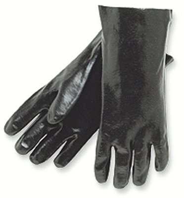 "12"" Black Economy Dipped PVC Gloves"