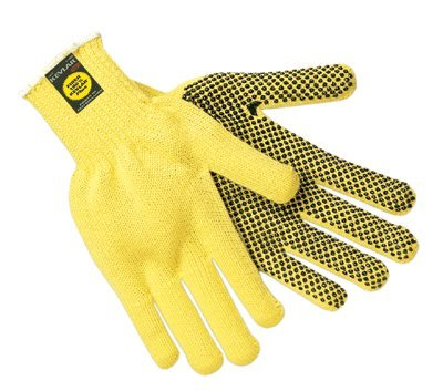Large Yellow Flame/Cut Resistant Kevlar Gloves